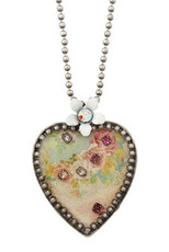 Michal Negrin Crystal Heart Necklace (4527)