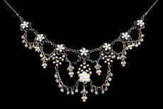 Michal Negrin Crystal Flowers Necklace (4536)