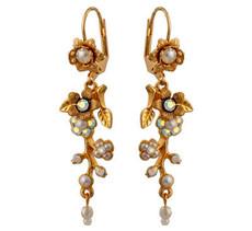 Michal Negrin Crystal Flower Hook Earrings (4592)
