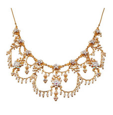 Michal Negrin Gold Crystal Flower Necklace