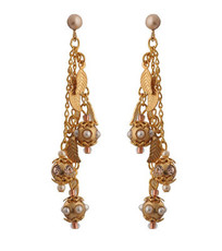 Michal Negrin Gold Leaves Earrings