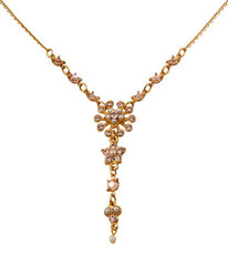 Michal Negrin Jewelry Gold Crystal Sun Flower Necklace