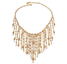 Michal Negrin Gold Dangling Crystals Necklace