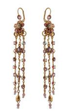 Michal Negrin Jewelry Crystal Flower Hook Earrings (4600)