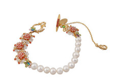 Michal Negrin Jewelry Gold Roses Bracelet