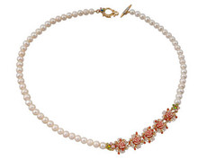 Michal Negrin Jewelry Gold Roses Necklace