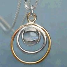 Kabbalah Golden And Silver Circle Pendant