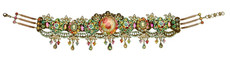 Michal Negrin Jewelry Multi Cameo Crystals Choker