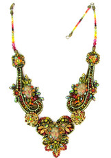 Michal Negrin Jewelry Special Cristals Flowers Necklace