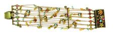 Michal Negrin Jewelry Gold Leaves Bracelet