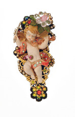 Michal Negrin Jewelry Angel On Flower Hair Brooch Accessories - 100-109200