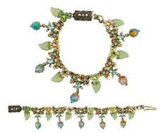 Michal Negrin Jewelry Crystal Flowers Bracelet