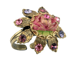 Michal Negrin Jewelry Crystal Flower Ring - 100-109930