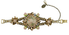 Michal Negrin Jewelry Antick Look Bronze Flowers Bracelet