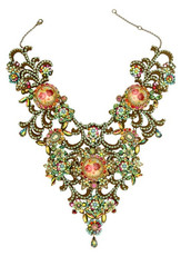 Michal Negrin Multi Cameo Crystals Necklace