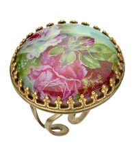 Michal Negrin Jewelry Cameo Crystals Ring