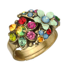 Michal Negrin Jewelry Flower Adjustable Ring (4757)
