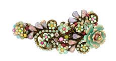 Michal Negrin Crystal Flowers Hair Brooch (4764)