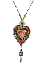 Michal Negrin Heart With Tear Drop Necklace
