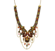 Michal Negrin Crystal Flowers Necklace (4778)