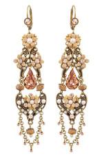 Michal Negrin Jewelry Crystal Flower Hook Earrings - 100-108161-009 - Multi Color