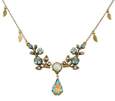 Michal Negrin Crystal Flower Necklace (4792)