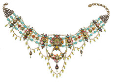 Michal Negrin Crystal Flower Necklace (4794)