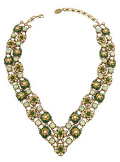 Michal Negrin Crystal Flower Necklace (4805)