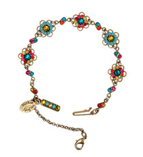 Michal Negrin Crystal Flower Bracelet (4835)