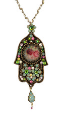 Hamsa Hand Necklace From Michal Negrin Classic Collection