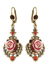 Michal Negrin Jewelry Rose Crystal Earrings - 100-111331-001 - Multi Color
