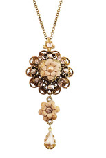 Michal Negrin Crystal Flower Necklace (4951)