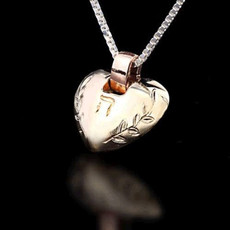 Heart Gold And Silver Kabbalah Pendant