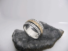 Ben Porat Yosef Silver And Gold Kabbalah Ring For Protection