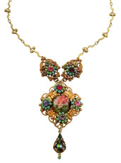 Michal Negrin Classic Flower Camo Necklace