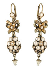 Michal Negrin Classic Flowers With A Bow Hook Earrings
