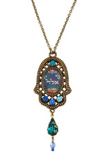Michal Negrin Kabbalah Hamsa Necklace From The Classic Collection