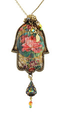 Crystal Hamsah Necklace By Michal Negrin