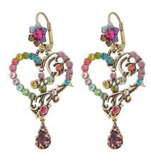 Michal Negrin Classic Earrings Heart Hook