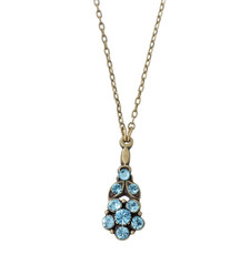Michal Negrin Crystal Flower Necklace (5916)