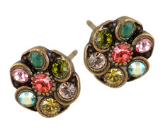 Michal Negrin Post Crystal Earrings