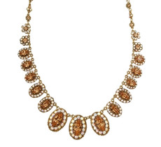 Michal Negrin Ovals Stone Crystal Necklace