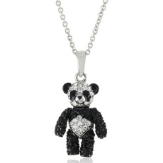 Andrew Hamilton Crawford Jewelry Panda Bear Black Necklace