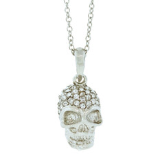 A Gorgeous Crystal Skull Silver Necklace From Andrew Hamilton Crawford Jewelry