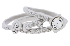 Andrew Hamilton Crawford Jewelry The 3 Piece Ring Suite Silver Ring
