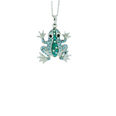 A Lovely Baby Frog Silver Blue Necklace From Andrew Hamilton Crawford Jewelry