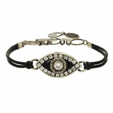 Evil Eye Bracelet From Michal Golan - Black Eye With Crystal Center