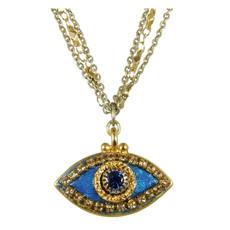 Evil Eye Necklace - Dark Blue, Medium Eye With Blue Center