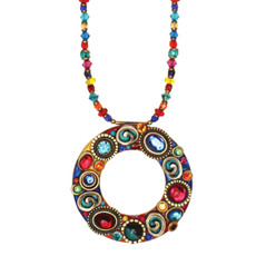 Michal Golan Confetti Hoop Necklace