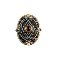 Oval Garnet Star Of David